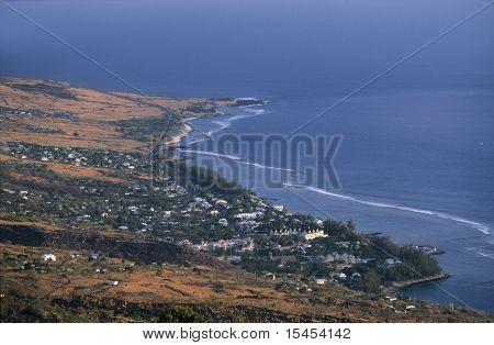 Saint Leu Town, La Reunion Island