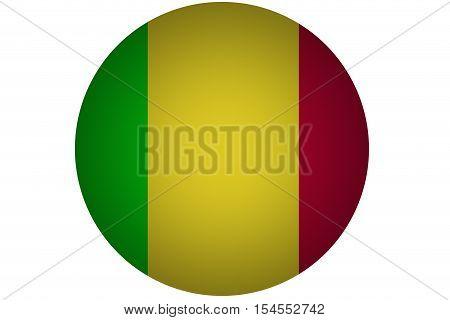 3D Mali flag ,original and simple Mali flag.Nation flag