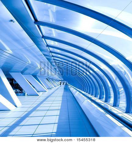 Glazed Corridor In Office Center