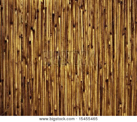 Texture - bamboo mat of brown color