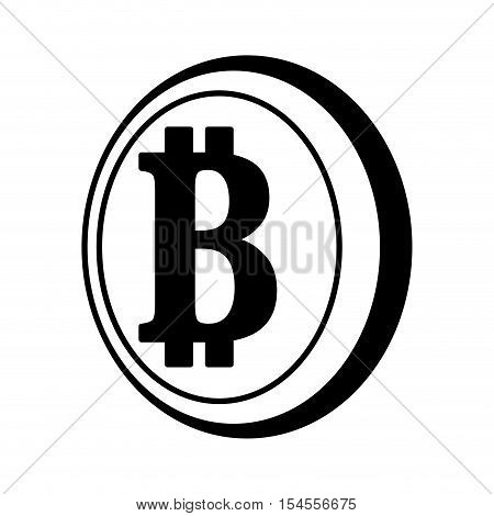 bit coin isolated icon vector illustration design
