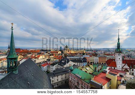 The roofs of Olomouc city Czech Republic. Europe.