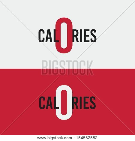 vector logo, icon, zero calories Diet health