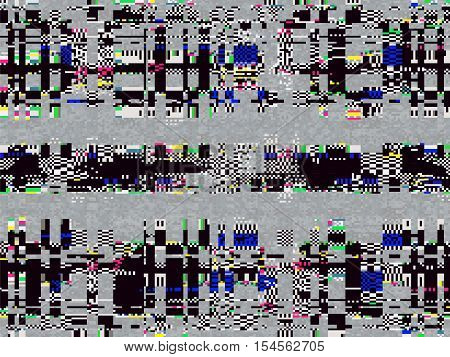 Glitch Computer Screen Data Error Texture 1
