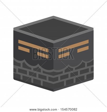 Makkah, kaaba, hajj icon vector image. Can also be used for islamic. Suitable for mobile apps, web apps and print media.
