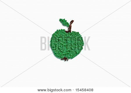 green beaded apple