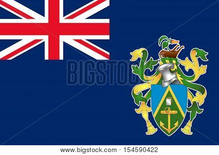 Flag of Pitcairn Islands Adamstown - British Overseas Territory in the Pacific