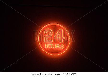 24 Hour Neon Light