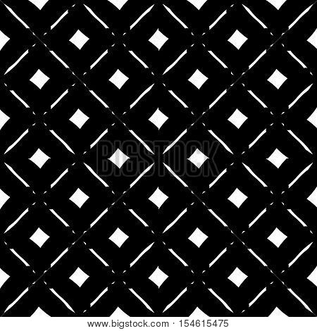 Abstract Black And White Geometric Pattern. Seamlessly Repeatable.