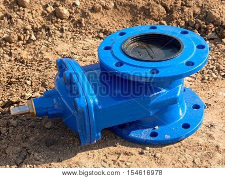 Detail Of Fittings, 150Mm Gate Valves For Drink Water System. Repairing Of Piping