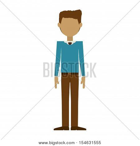 man wearing formal suit without face vector illustration