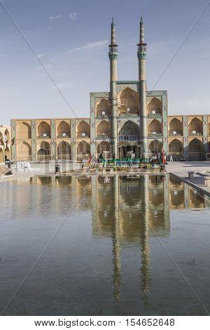 Yazd, Iran - October 07, 2016: Amir Chakhmaq Complex In Yazd, Iran