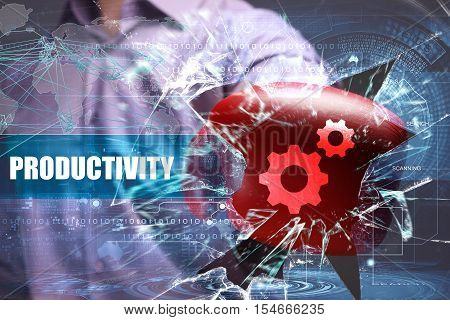 Business, Technology, Internet And Network Security. Productivity