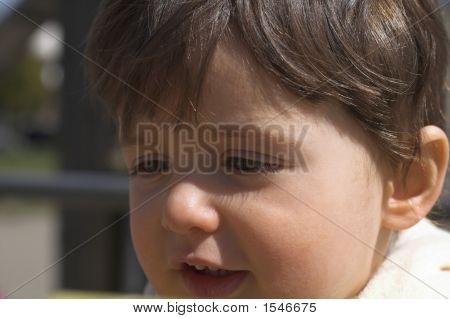 Baby Close Up Portrait