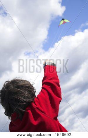 Teen Flying Kite