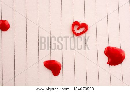 Heart Shaped Made By The Help Of A Glue