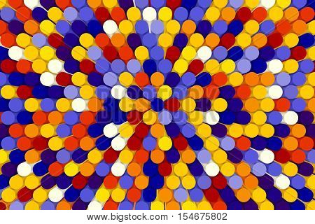abstract colorful background mosaic tubes  3D illustration