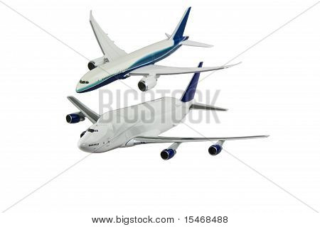 Modern Cargo And Commercial Airplanes