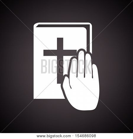 Hand On Bible Icon