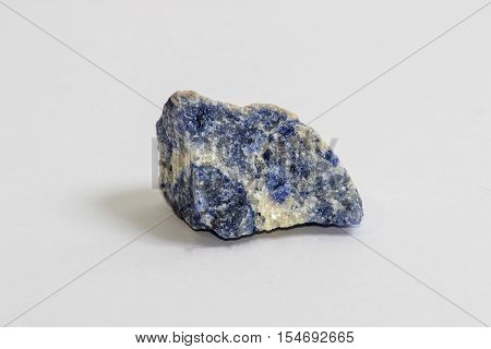 A small chunk of the rock called Sodalite