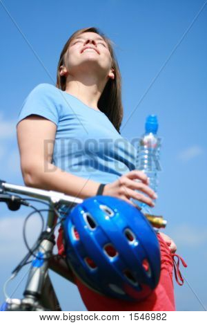Woman And Bike