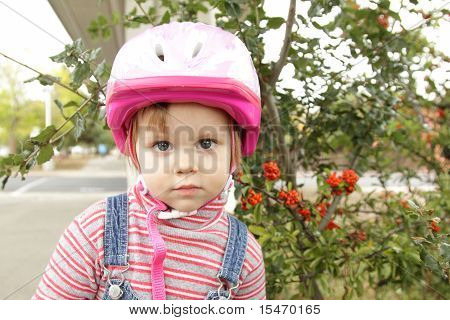 Little Girl With Helmet