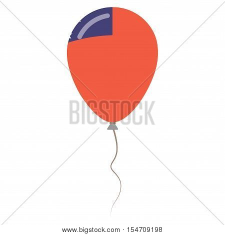 Independent State Of Samoa National Colors Isolated Balloon On White Background. Independence Day Pa
