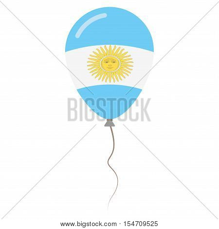 Argentine Republic National Colors Isolated Balloon On White Background. Independence Day Patriotic