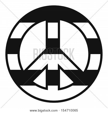 LGBT peace sign icon. Simple illustration of LGBT peace sign vector icon for web