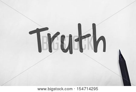 Truth Real Trustworthy Honesty Realistic Concept