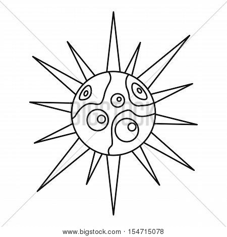 Round cell virus icon. Outline illustration of round cell virus vector icon for web