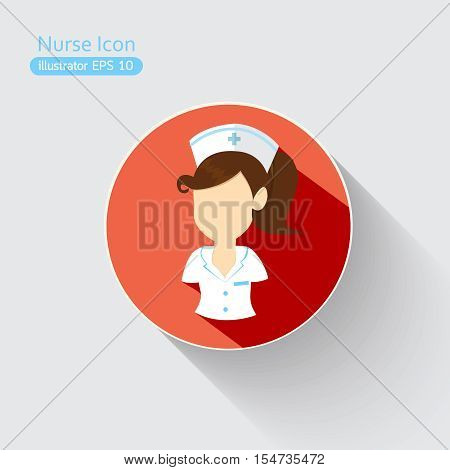 Nurse icons light flat design.occupation and healthcare concept.Vector illustration symbol and icon design concept.