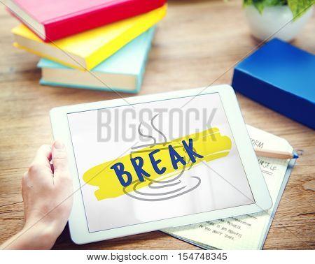 Coffee Break Relaxation Cessation Relief Concept