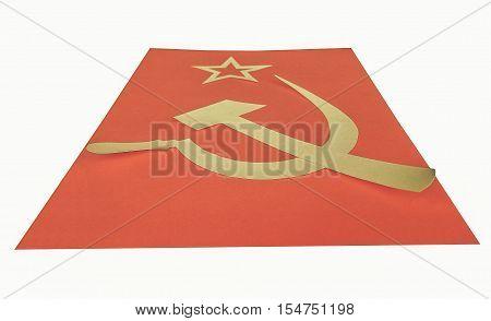 Vintage Looking Cccp Flag