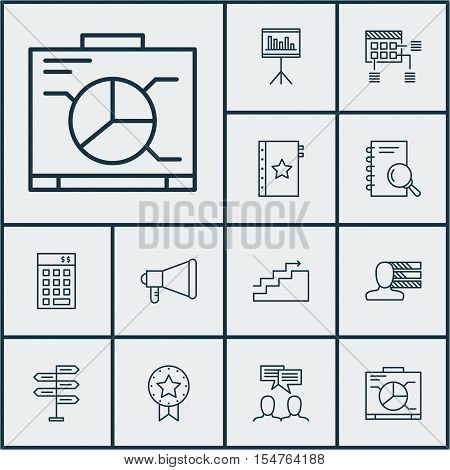 Set Of Project Management Icons On Schedule, Analysis And Opportunity Topics. Editable Vector Illust