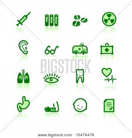 green medicine icons