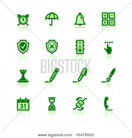 green software icons