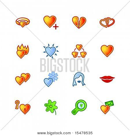 colorful love icons