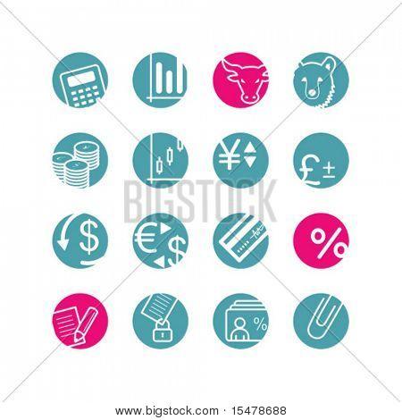 circle finance icons