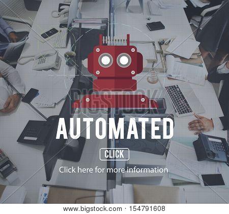 Robot Cyborg AI Robotics Concept