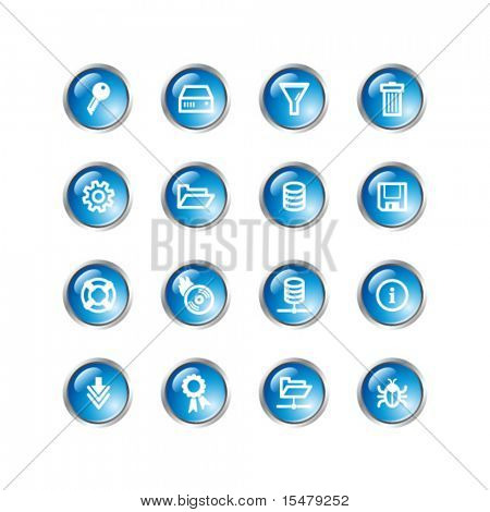 blue drop server icons