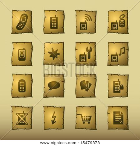 papyrus mobile phone icons