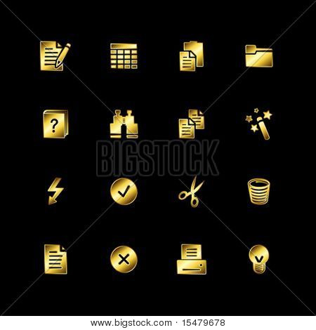 Gold document icons