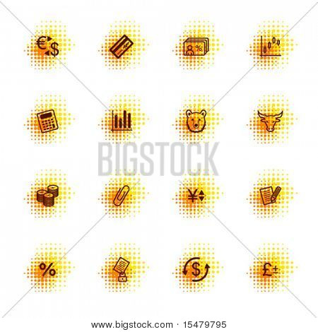 finance icons, dots series