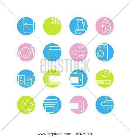spring circle web icons
