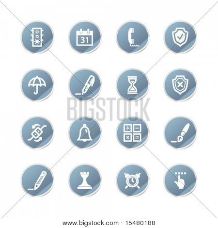 blue sticker software icons