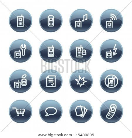 Mineral drop mobile phone icons