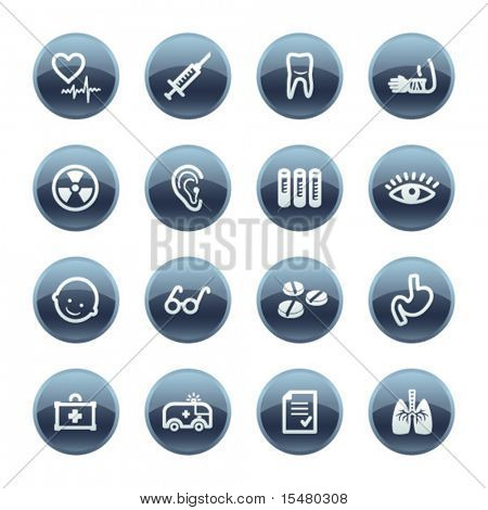 Mineralische Drop-Medizin-Symbole