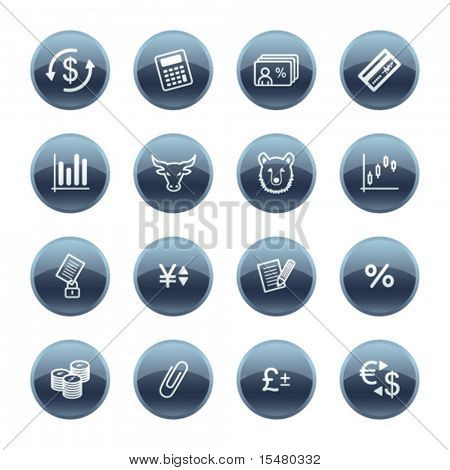 Mineral drop finance icons