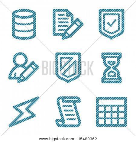 Blue line database contour icons V2